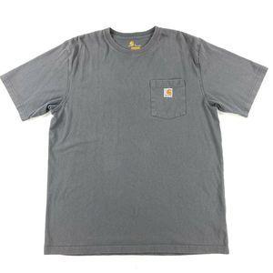 Vtg Carhartt Pocket Tee Work Wear T-Shirt Large